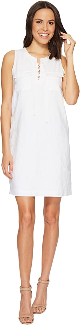 TWO by Vince Camuto - Sleeveless Lace-Up Two-Pocket Dress