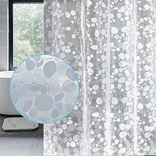 LEMON CLOUD Cortina Baño 100% PEVA Cortinas de ducha Impermeable Antibacteriano Resistente al Moho Semitransparente con 12 Ganchos de Cortina 183X183 cm Blanco