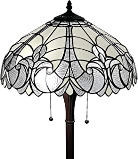 Tiffany Style Floor Lamp Jagged Edge Floral Standing 62