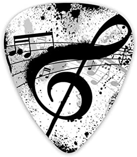 Guitar Picks Music Note Premium Picks Sampler Includes Thin Medium And Heavy Gauge Unique Guitar Gift For Bass Electric Ac...