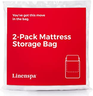 Linenspa Mattress Bag for Moving and Storage, LS02QQMB, White, Queen