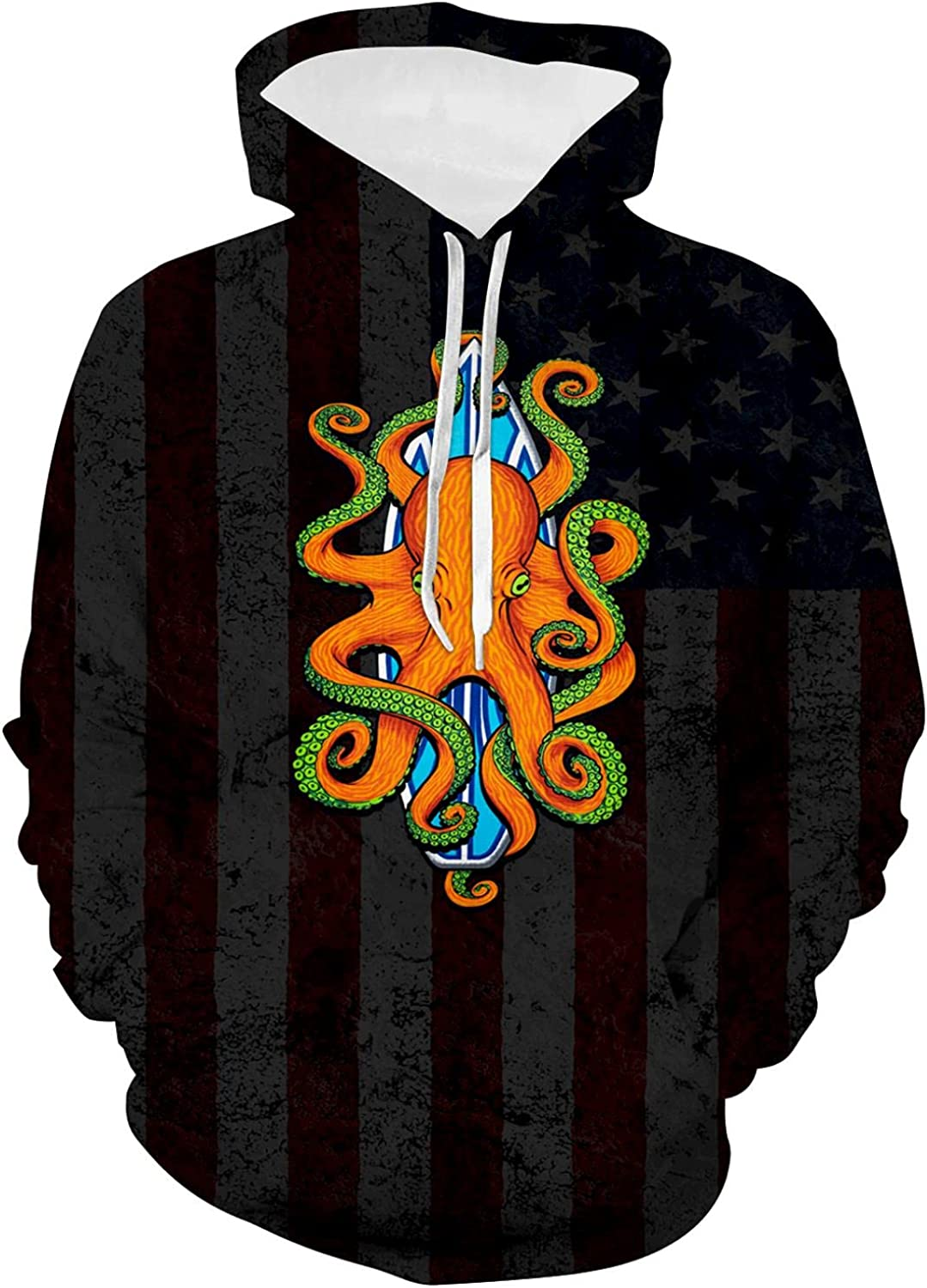 Pow Super beauty product restock quality top Mia American Flag Youth Plush Front Hoodie Sweatshirt Special Campaign with P