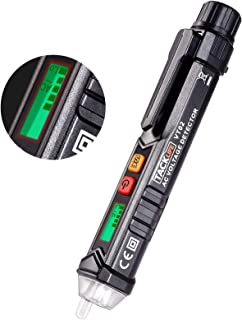 Detector de Voltaje sin Contacto con Pantalla LCD,12V-1000V Detector de Tension, Linterna LED/Alarma Sonora/Sensibilidad a...