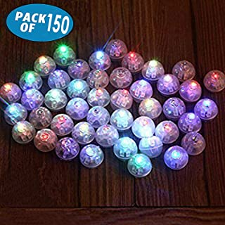 150Pcs/Lot 150 X Multicolor Round Led Flash Ball Lamp Balloon Light Long Standby Time for Paper Lantern Balloon Light Party Wedding Decoration