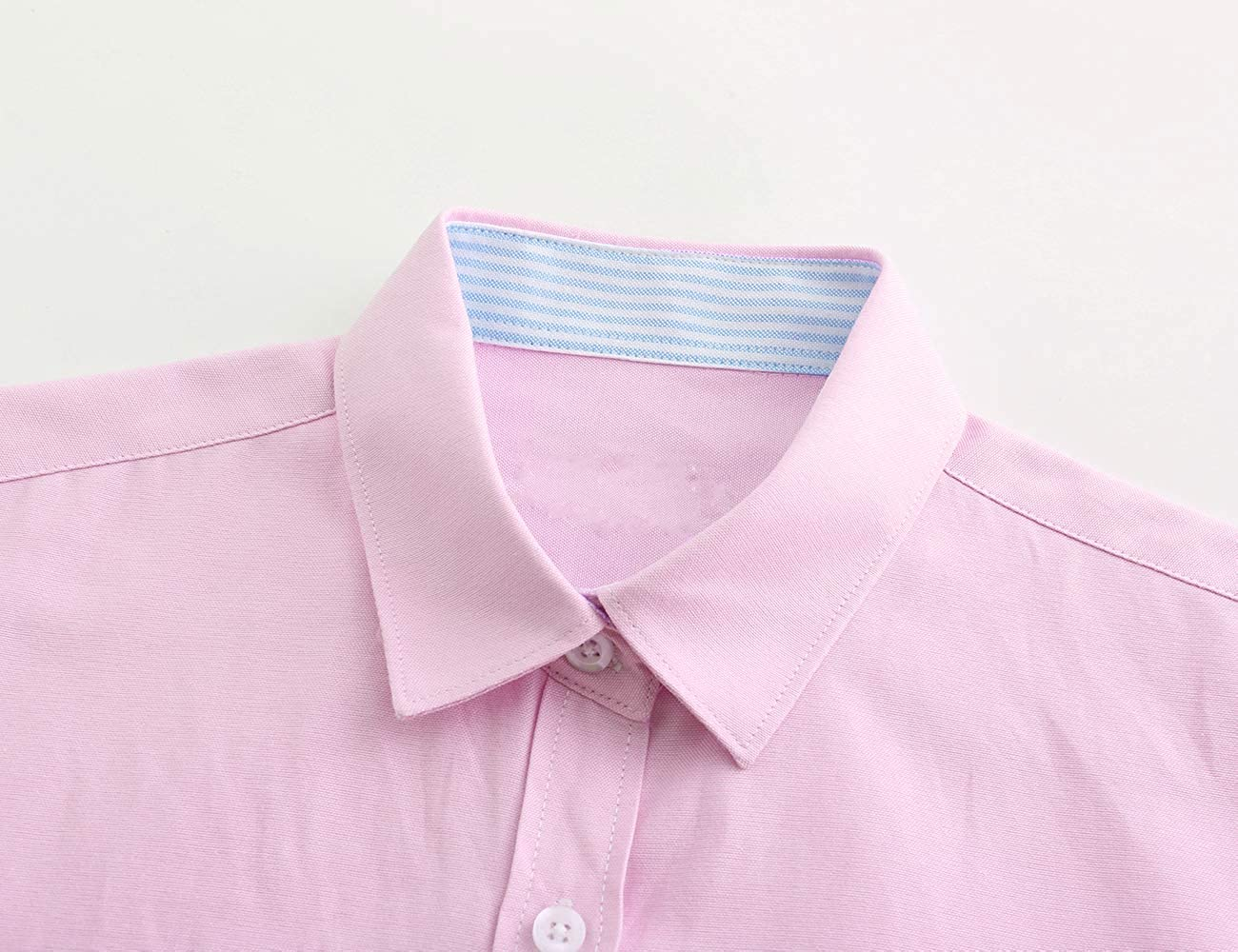 Jandukar Womens Button Down Shirts Long Sleeve Collared Blouse Ladies Office Dress Shirt
