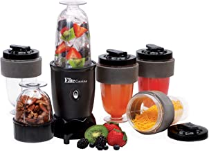 Maxi-Matic EPB-1800 17 Piece 300W Personal Drink Blender, 16 Oz, Black