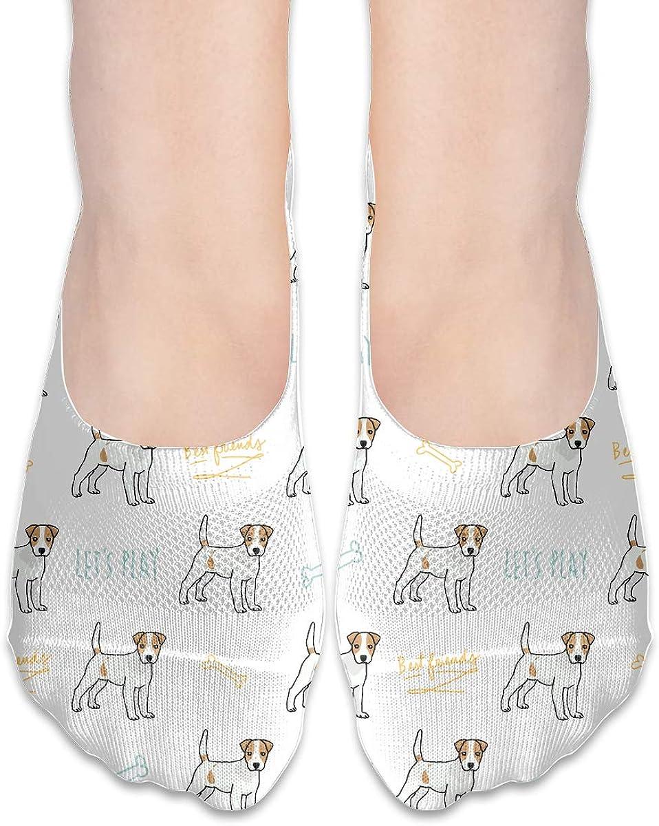 Casual Jack Russell Terrier Dog Socks, No Show Socks For Women Men
