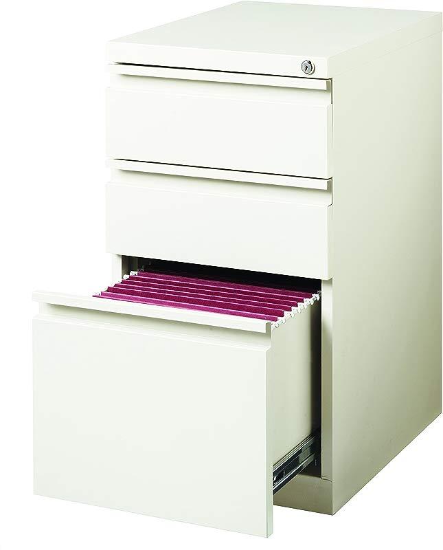 Hirsh Industries 20 Deep Box Box File Mobile Pedestal White 19353 Lot Of 1