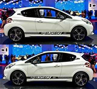 Infinity-270 peuge0t 206 207 208 GTI 3 Doors Drift Rally Racing car Stripes Sticker
