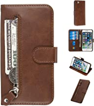 Kitoro iPhone 8 Case, iPhone 7Case, Zipper Series Wallet Case PU Leather Automatic Closing Soft Inner TPU Bumper Flip Protective Case Cover for iPhone 8/iPhone 7 - Brown