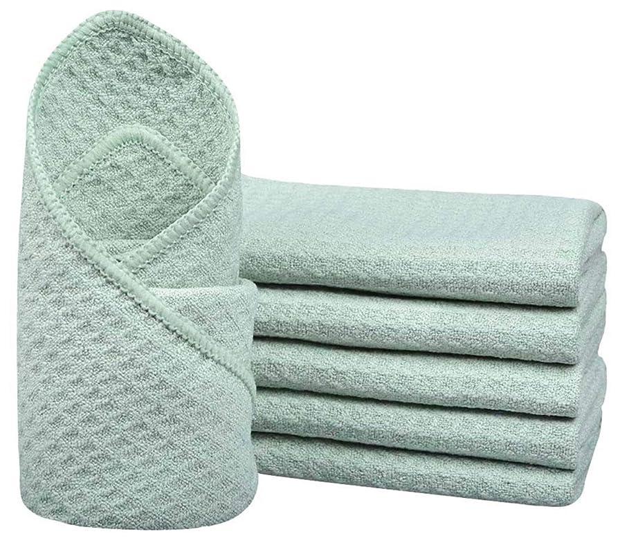 上へ傾いたレーダーSinlandマイクロファイバーワッフル織りDish Cloths Dishcloths Washcloths Facial Cloths 6パック13?inchx13inchターコイズ 13Inchx13Inch nhblgdishcloth33tgreenx6