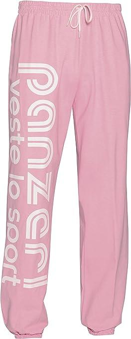 Pantalon de survêtement Panzeri Uni h rose jersey pant Rose 30922 Neuf