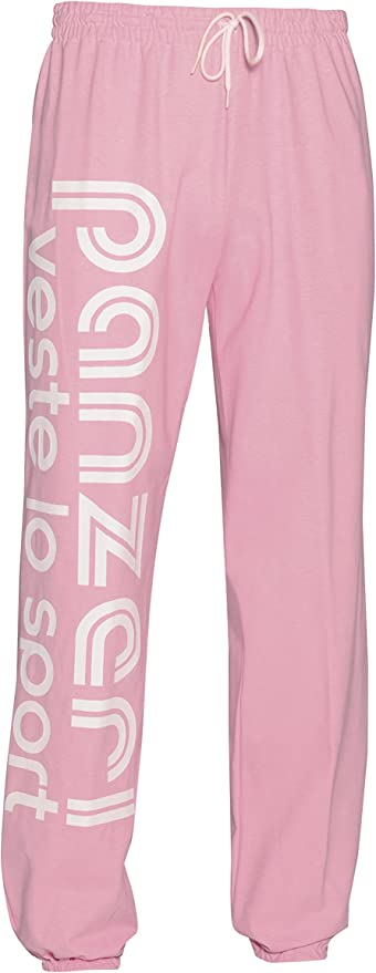 Pantalon de surv/êtement Uni h Rose Jersey Pant PANZERI