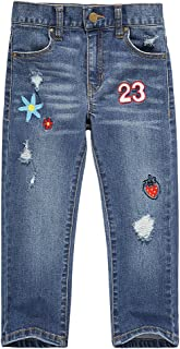 UNACOO Girls Jeans Stretch Straight Leg Pockets