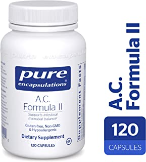 Pure Encapsulations - A.C. Formula II - Hypoallergenic Dietary Supplement to Promote Healthy Microbial Balance* - 120 Vegetable Capsules