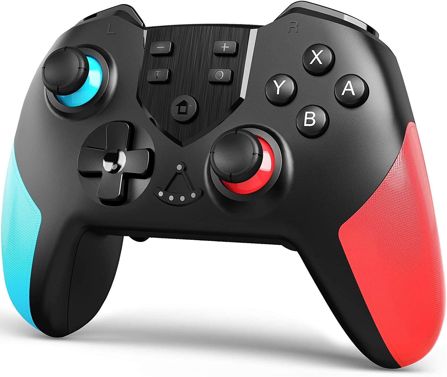 TERIOS Wireless Controller Compatible with Switch, Switch Lite – Gamepad with Button Programming Mode – Turbo and Vibration Function – Enhanced Precision and Control(Blue & Red)