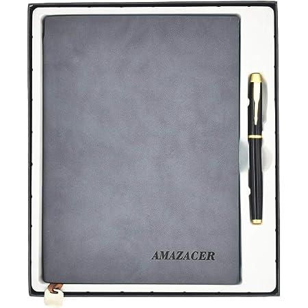 AMAZACER 裁定ノートブックプレミアムB5ジャーナル - ハードカバークラシックビーガンレザーノートブック - Dowling Paper - スエード素材ノートブック