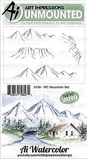 مجموعة طوابع مطاطية من آرت إمبريشنز 5198 إيه إيه، نادي جبل