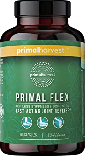 Primal Harvest: Primal Flex - Fast-Acting Joint Pain Relief Formula with Collagen, Vitamin C, Turmeric, Boswellia Serrata,...