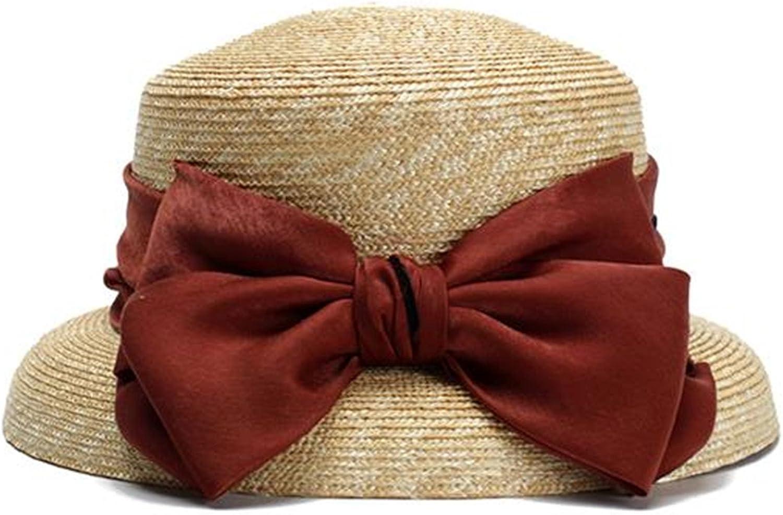 Spyman Novel Straw Hats for Women Elegant BowKnot Summer Sun Hat New Floppy Sun Visor Cap Chapeau Femme