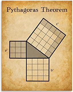 Math Poster Pythagora's Theorem - 11x14 Unframed Art Print - Makes a Great Gift Under $15 for Geeks and Math Lovers