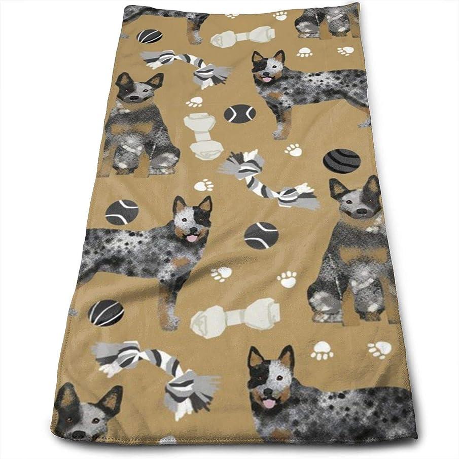 Australian Cattle Dog Toys - Dog Toys, Dog, Dog Breeds, Cattle Dog Heeler - Brown Hand Towels Dishcloth Floral Linen Hand Towels Super Soft Extra Absorbent for Bath,Spa and Gym 11.8