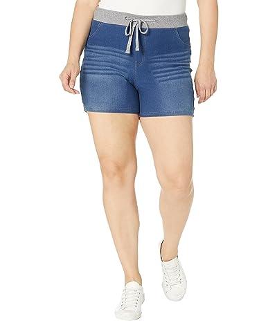 HUE Plus Size Wearever U R Feel Good Sweatshirt Denim Shorts