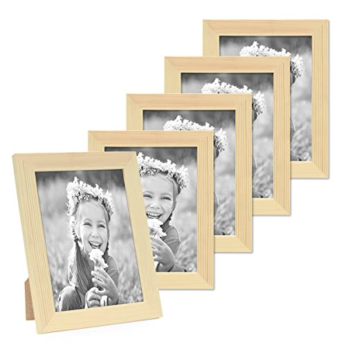 cd9b49353a8 Photolini Set of 5 Picture Frames 15x20 cm   8 x 6 Inch