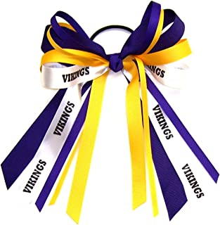 Custom Mascot Multi Streamer Hair Bow, Made in the USA, Pick your Mascot Colors, Black Pony Band or French Clip