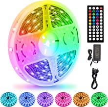 LED Strips Lights 15M/50Ft, Flexible Color Changing 5050 RGB 450LEDs Light Strips with Remote Controller 24V Adapter, Non-...
