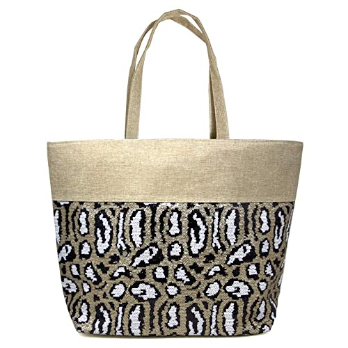 Beach Bags Large Summer Tote Bags with Zipper Closure Shoulder Bag For Women