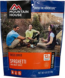 Mountain House Spaghetti with Meat Sauce, POUCH 2-Pack