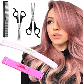 YMHPRIDE 5 Stks Hair Cutting Tools, Professionele Thuis Haar Snijden Tool DIY Home Trimmer Styling Kits voor Lagen Pony Bo...
