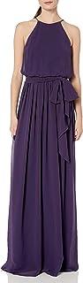 Donna Morgan Women's Alana Halter Blouson Gown