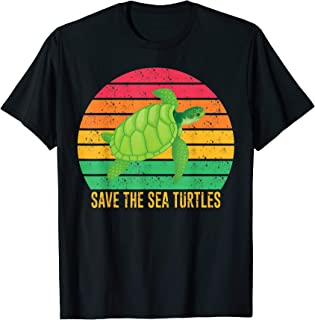 Vintage Save Sea Turtles For Turtle Lover Gift T-Shirt