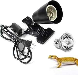 カメ 爬虫類 ライト ペット ヒーター ダントツ 水槽ヒーター 植物育成 両生類用 爬虫類用 ライトクリップ 強力スチール製クリップ 高温耐性 スイッチ付き 75wランプ1個付き(調温不可ショートB)