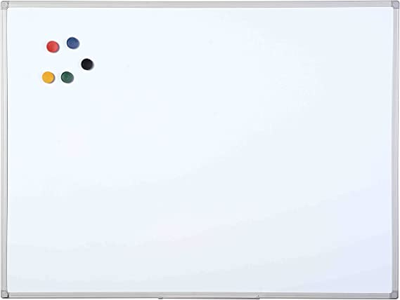 Bi-Office New Basic White Non-Magnetic Board with Black Frame 585 x 385 mm