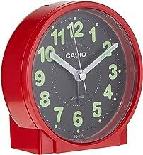 Casio #TQ228-4DF Round Travel Table Top Alarm Clock, Red, TQ-228-4DF
