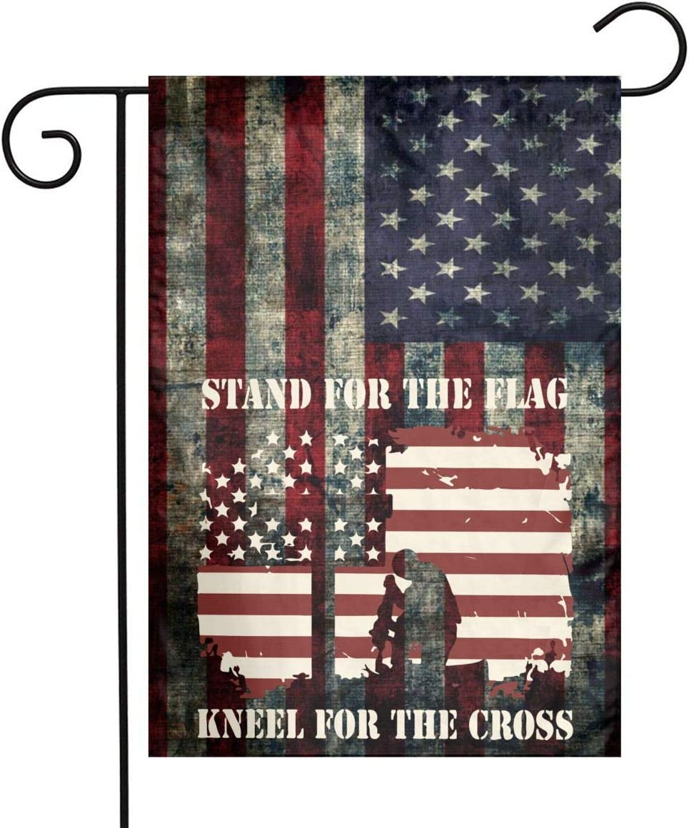 I Stand For The Flag Garden Cross Kneel Welcome Credence Super sale