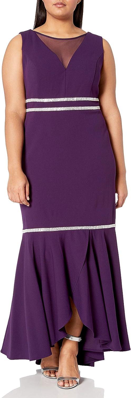 R&M Richards Women's Plus Size Criss Cross Flounce