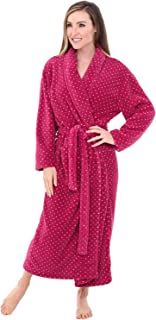 Alexander Del Rossa Women's Plush Fleece Robe, Warm Printed Bathrobe