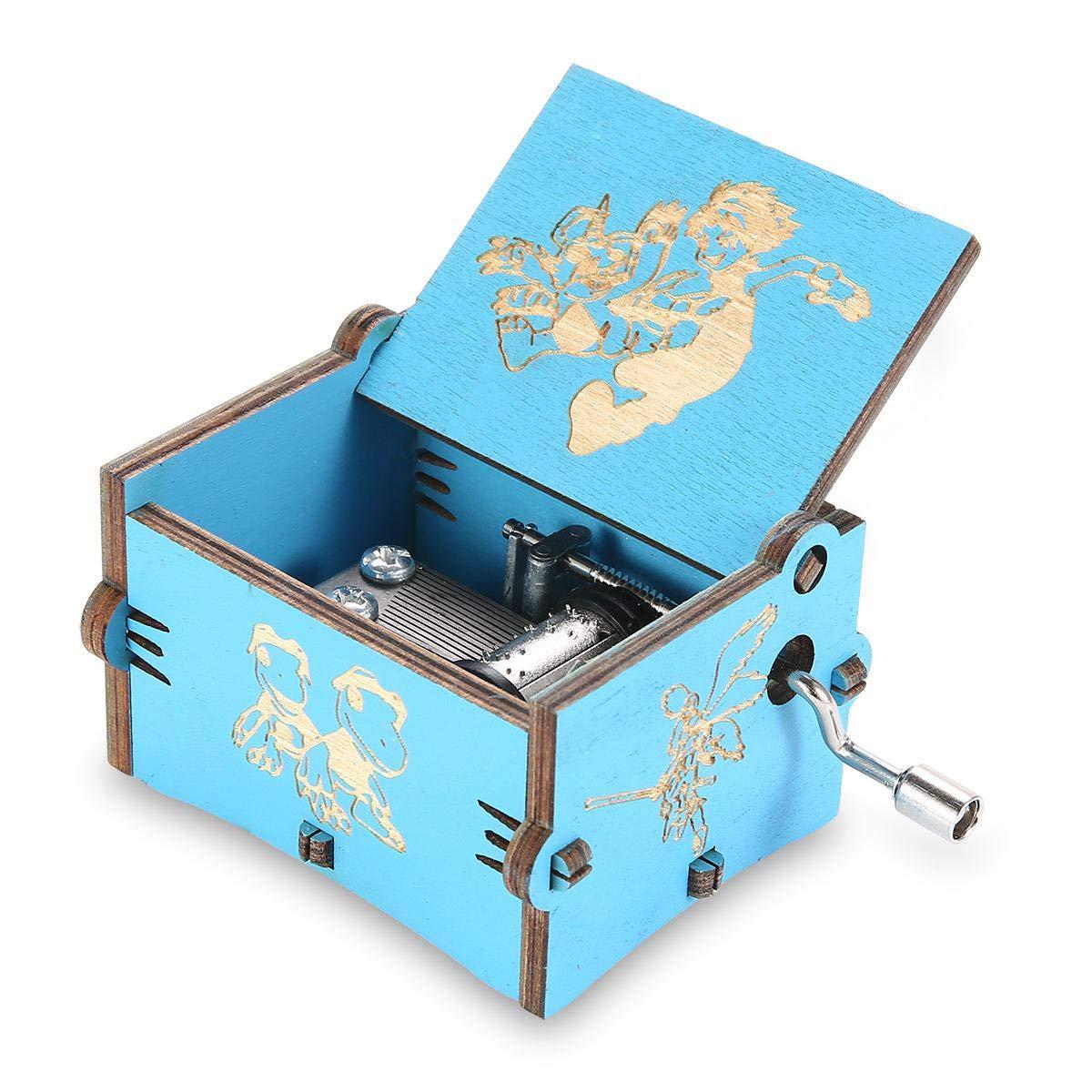 MOGOI Caja de música de Madera, manivela de Mano, Caja Musical de Madera Tallada clásica, Regalo para niños, Familia y Amigos: Amazon.es: Hogar