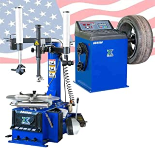 XK USA New Model 988 Tire Changer Wheel Changers Machine Combo 680 Balancer Rim Clamp w/ 12 Month Warranty 110V