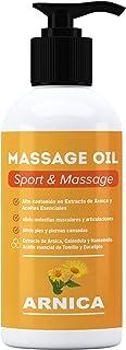 ARNICA - Huile de massage aux extraits d'Arnica, Calendula et Hamamélis - Récupération musculaire - 250 ml. - Effet relaxa...