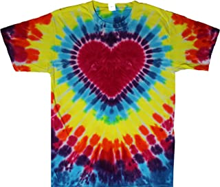 Rainbow Tie Dye Heart Shirt Men Women Teens