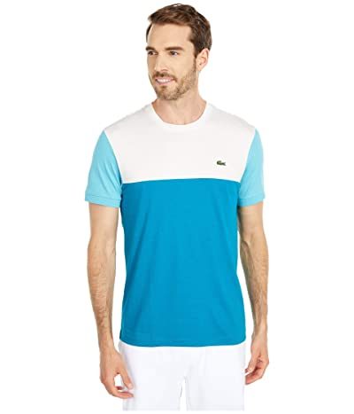 Lacoste Short Sleeve Striped Color-Block T-Shirt (Willo/Flour/Cicer) Men