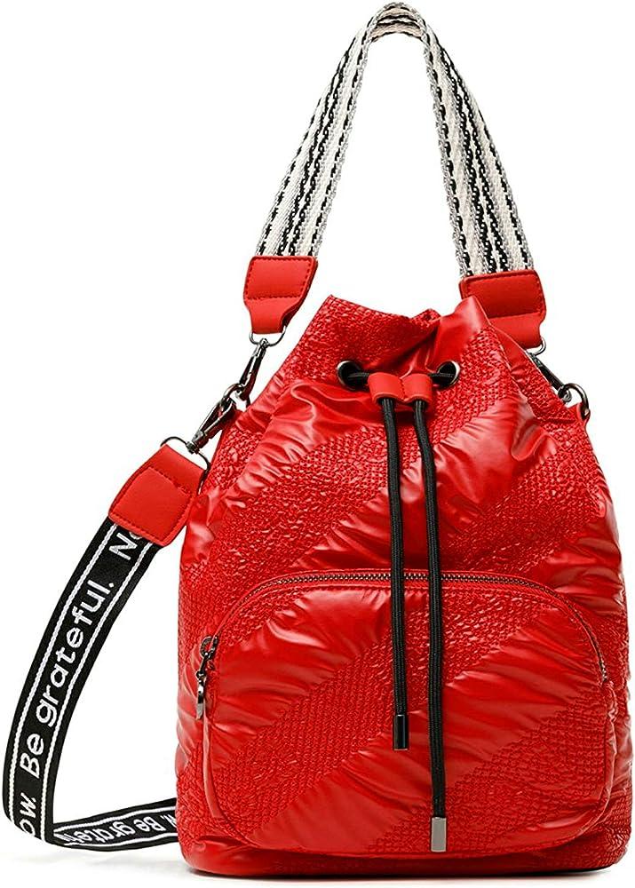 Desigual fabric hand bag borsa a mano per donna in tessuto imbottito lucido 21SAXA23