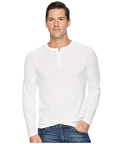 Alternative Organic Long Sleeve Raglan Henley (Earth White) Men