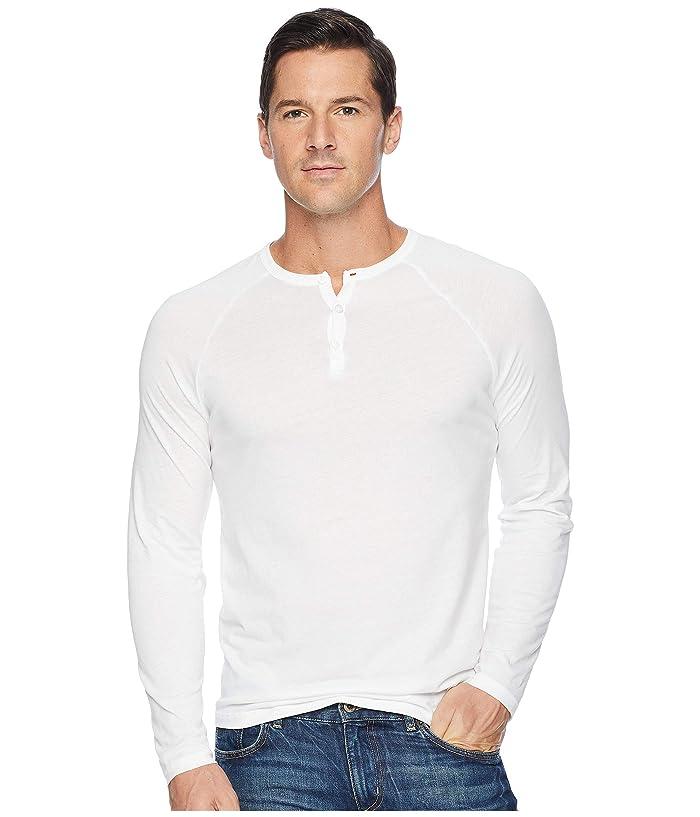 Alternative Organic Long Sleeve Raglan Henley (Earth White) Men