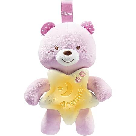 Chicco- Gioco First Dreams Bear Panel, Colore Rosa, 00009156100000